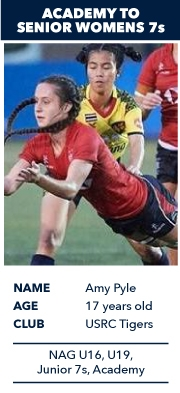 Amy Pyle, Academy to Senior Womens 7s