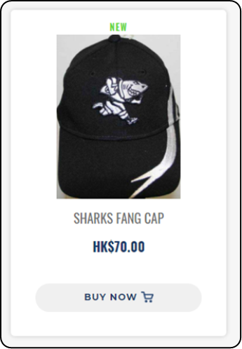 SHARKS FANG CAP