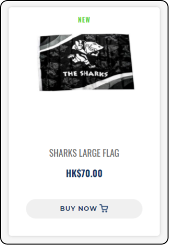 SHARKS LARGE FLAG