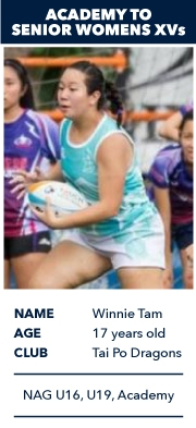 Winnie Tam, Academy to Senior Womens XVs